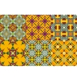 Set of oriental style seamless ornaments vector image