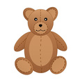 Teddy bear on white background vector image