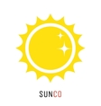 Yellow sun icon logo design concept vector image