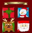christmas pillow vector image