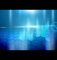 Abstract hexagons on blue background vector image