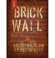 brick wall template vector image