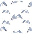 geometric triangular seagulls seamless pattern vector image