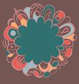 fantasy mandala ornamental design vector image