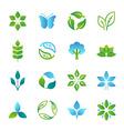 green logos and emblems vector image vector image