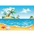 Cartoon seascape vector image