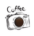 coffee cameral business drawn icon symbol idea vector image