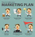 Marketing plan infographics vector image