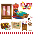 pirate room set vector image