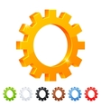 Set of 7 settings symbol in different colors vector image