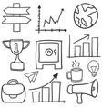doodle of object business various vector image
