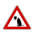 Pet hospital warning sign vector image vector image
