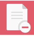 Delete Document Icon vector image vector image