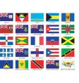caribbean flags vector image vector image