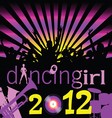 party dancing girl for 2012 vector image