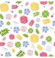 Abstract Natural Flower Seamless Pattern vector image vector image