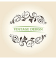 vintage decor label ornament design emblem vector image vector image