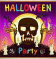 Happy Halloween card background Flat design kids vector image