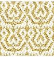 Tribal glitter golden seamless pattern vector image vector image
