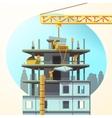 Retro construction cartoon vector image
