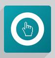 flat pointer pixel cursor icon vector image