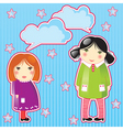 girls thinking vector image