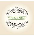 Vintage decor label ornament design emblem vector image