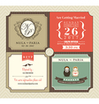 Vintage style Wedding Invitation card Template vector image