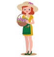 Woman gardener vector image
