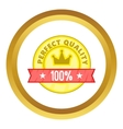 Perfect quality label icon vector image