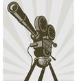 Vintage movie or television film camera vector image vector image