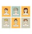 faces BOYS 1-1 vector image