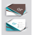Fitness Center Business Card Set vector image