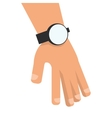 hand with watch icon vector image