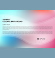 abstract colorful background in pink and cyan vector image
