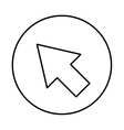 arrow pointer isolated icon vector image