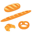 Different kinds of bread vector image