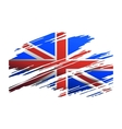 Flag Great Britain in the form traces brush vector image