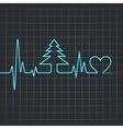 heartbeat make christmas tree vector image