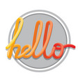 hello sign calligraphic hand written hello script vector image