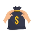 icon insurance hands bag money security design vector image
