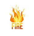 red fire icon isolated on background vector image