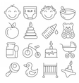 Web icons lines set vector image