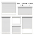 white roller shutters window door garage vector image