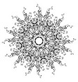 Music notes round floral ornament vector image