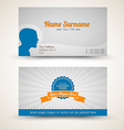 old-style retro vintage business card vector image vector image