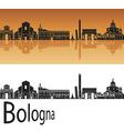 Bologna skyline in orange background vector image vector image