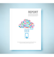 Cover report cloud social network background vector image