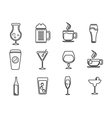 icons drink set vector image