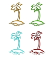 islands with palms vector image